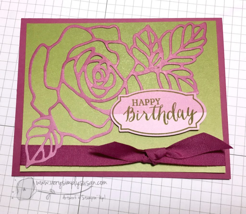 Rose Wonder, Color Theory DSP, Stampin' Up!