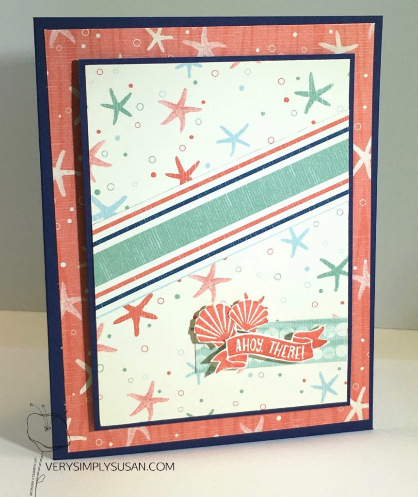 #GDP086, SEASDIE SHORE, AHOY THERE, STAMPIN' UP!