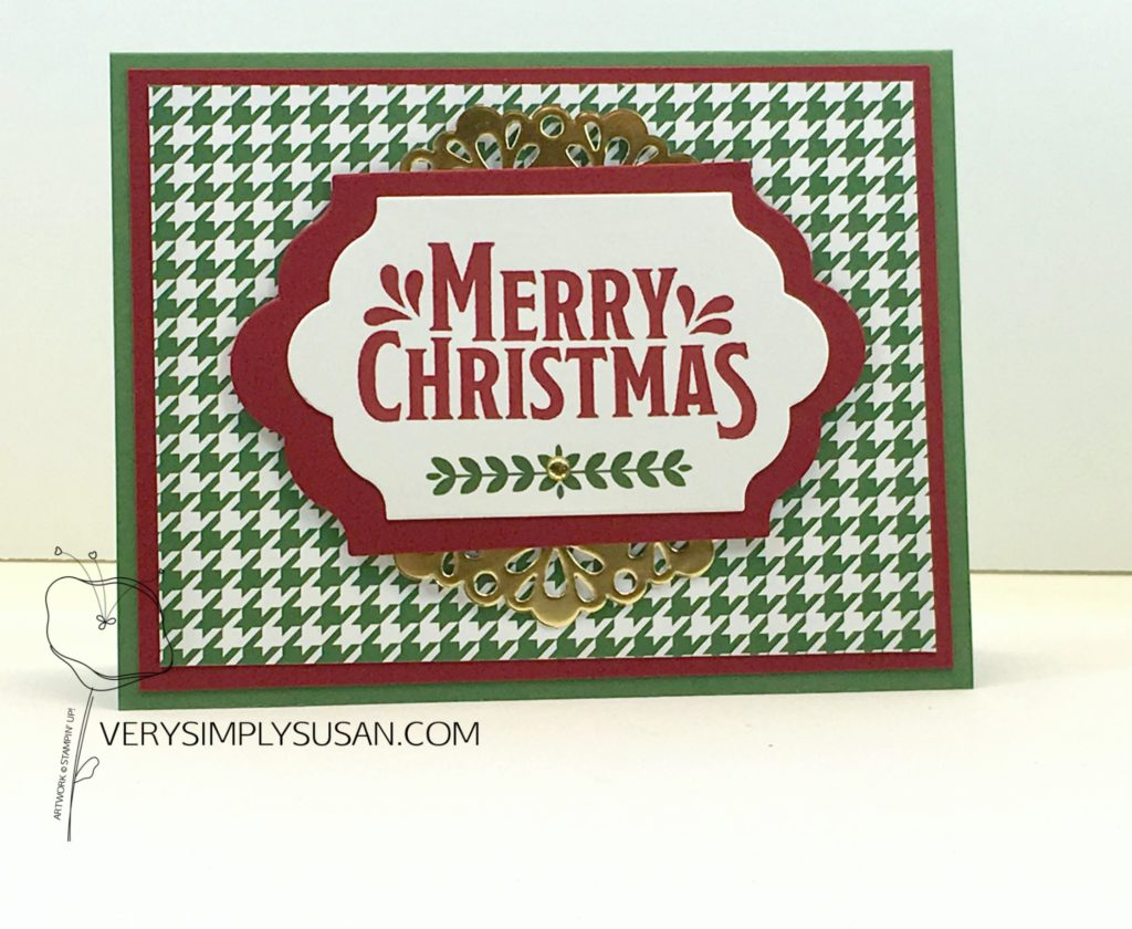 Merry Mistletoe, STAMPIN' UP!, Be Merry DSP