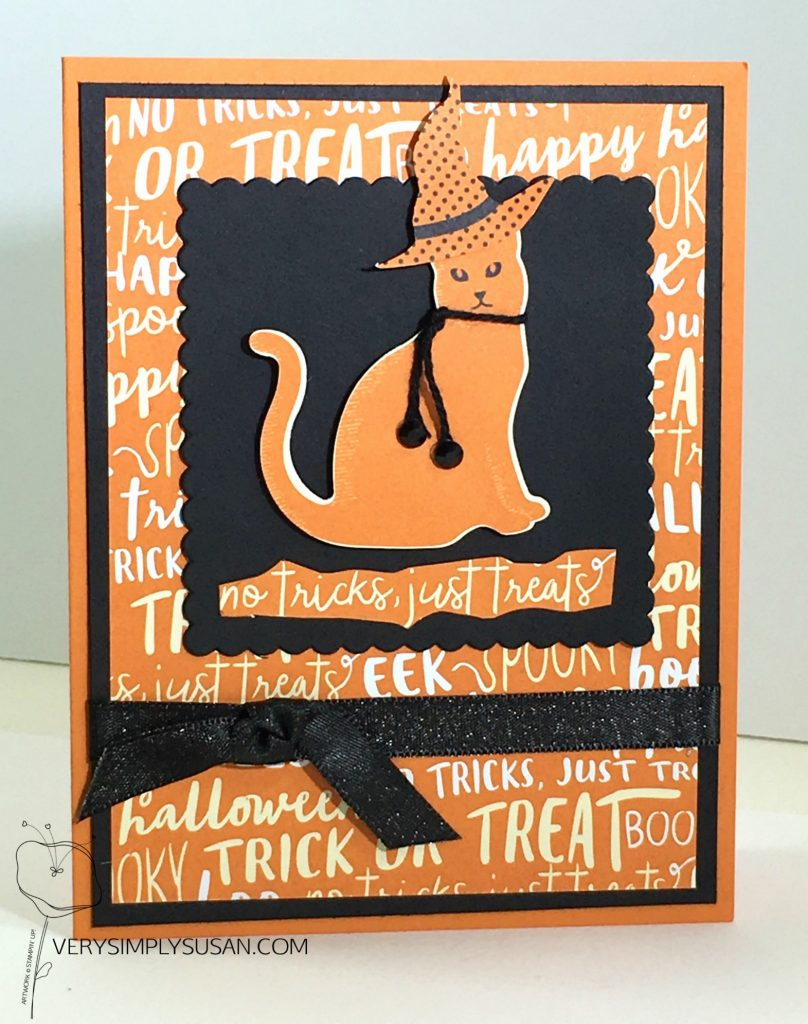Spooky Cat, Spooky Nights DSP. Stampin' Up!