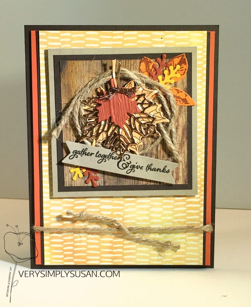 Hand Painted Harvest Thanksgiving, STAMPIN' UP!