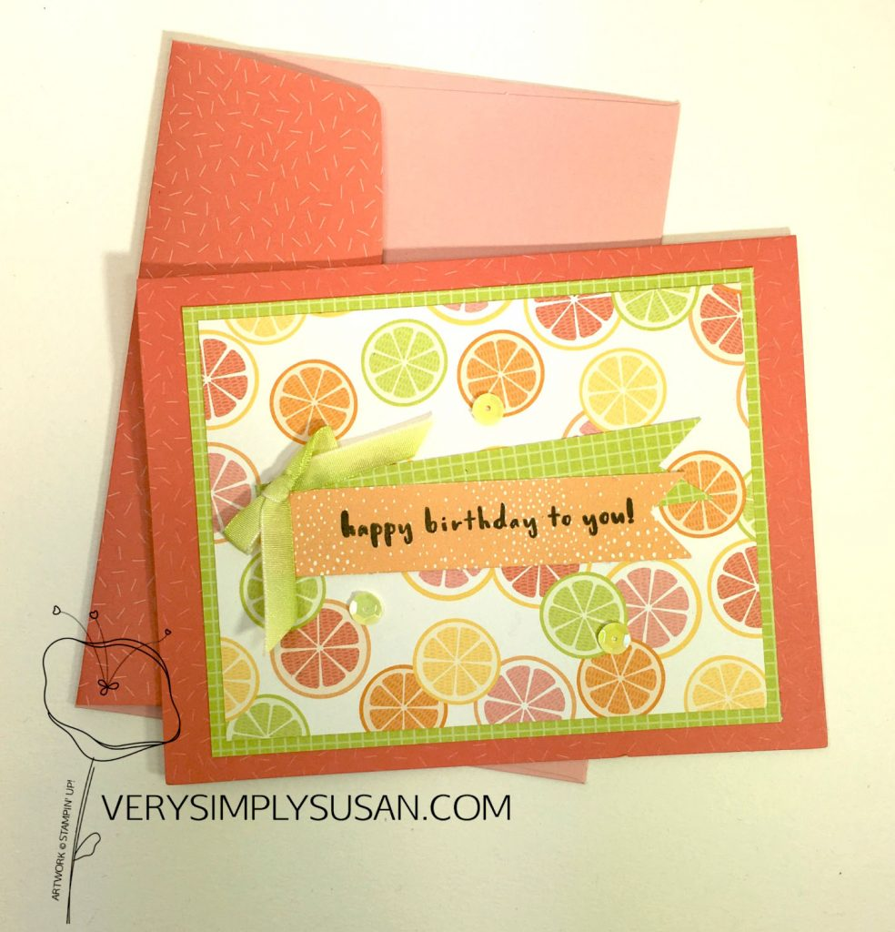 Tutti-frutti, Fruit Basket, STAMPIN' UP!