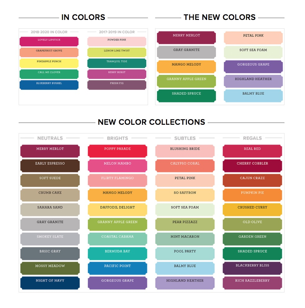Stampin' Up! New Colors 2018