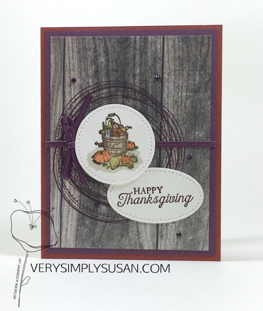 Many Blessings, Swirly Frames, Stampin' Up!