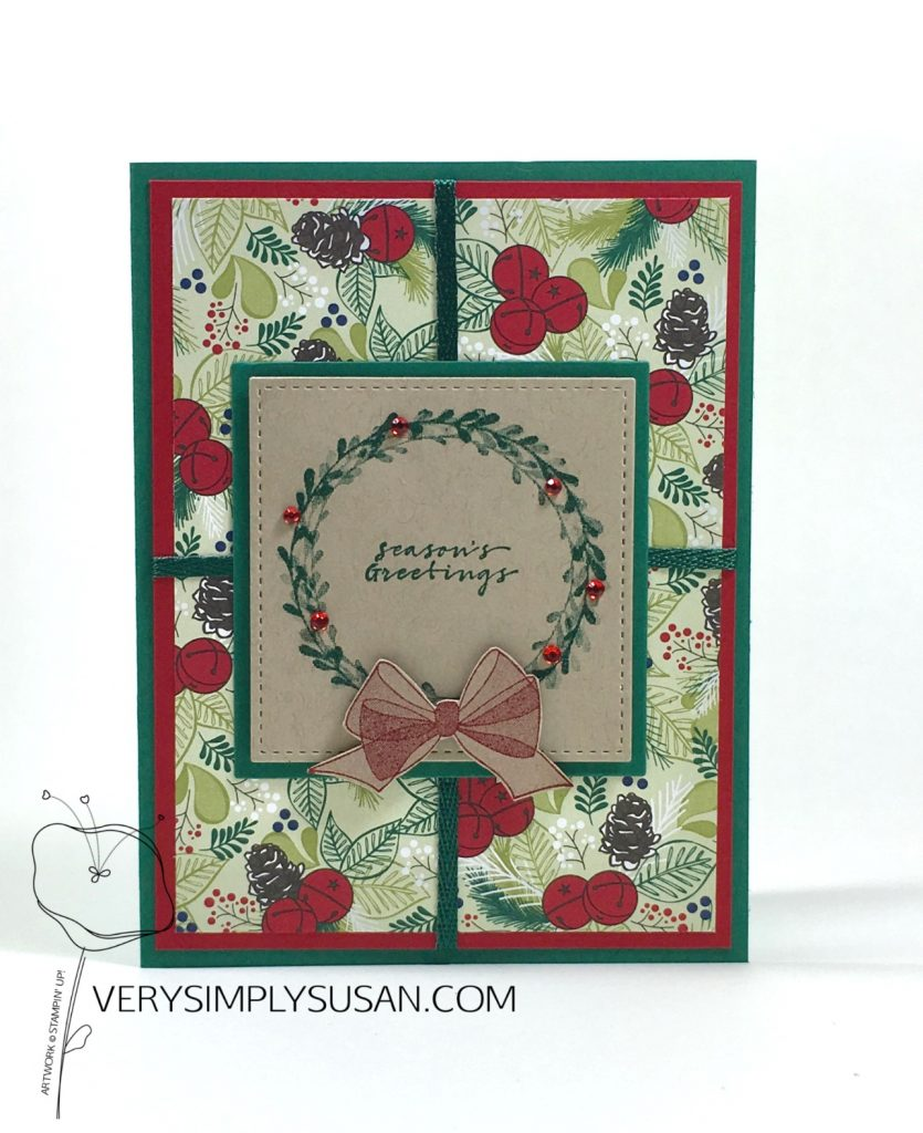 Wishing You Well, Under the Mistletoe DSP, Stampin' Up!