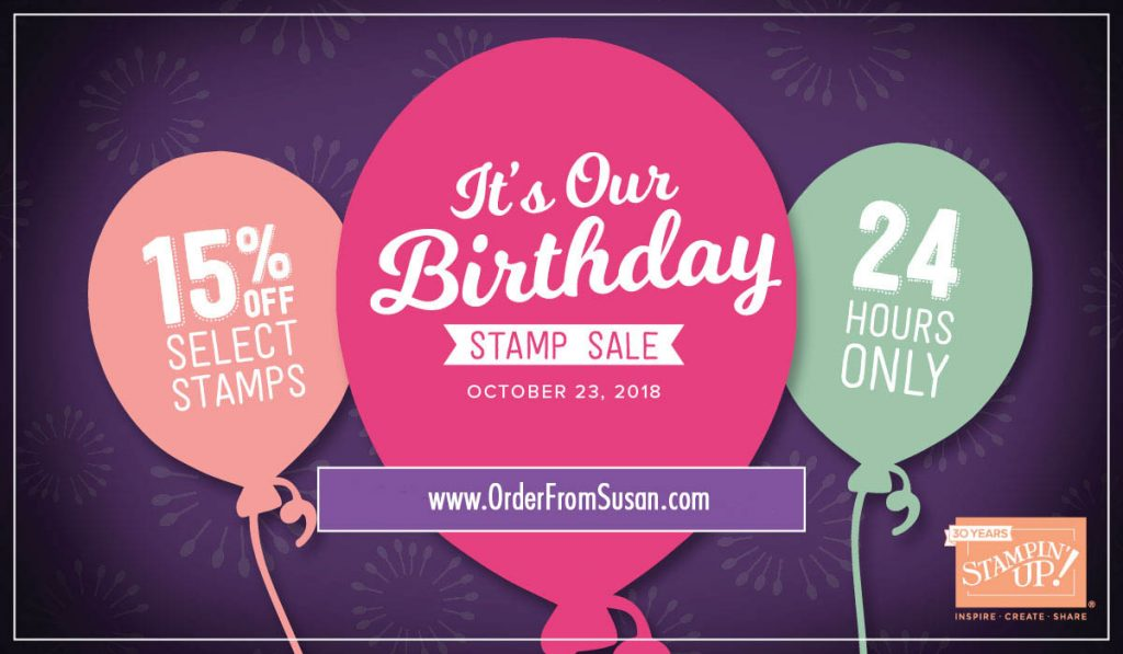 24 Hours Stampin Up Sale!