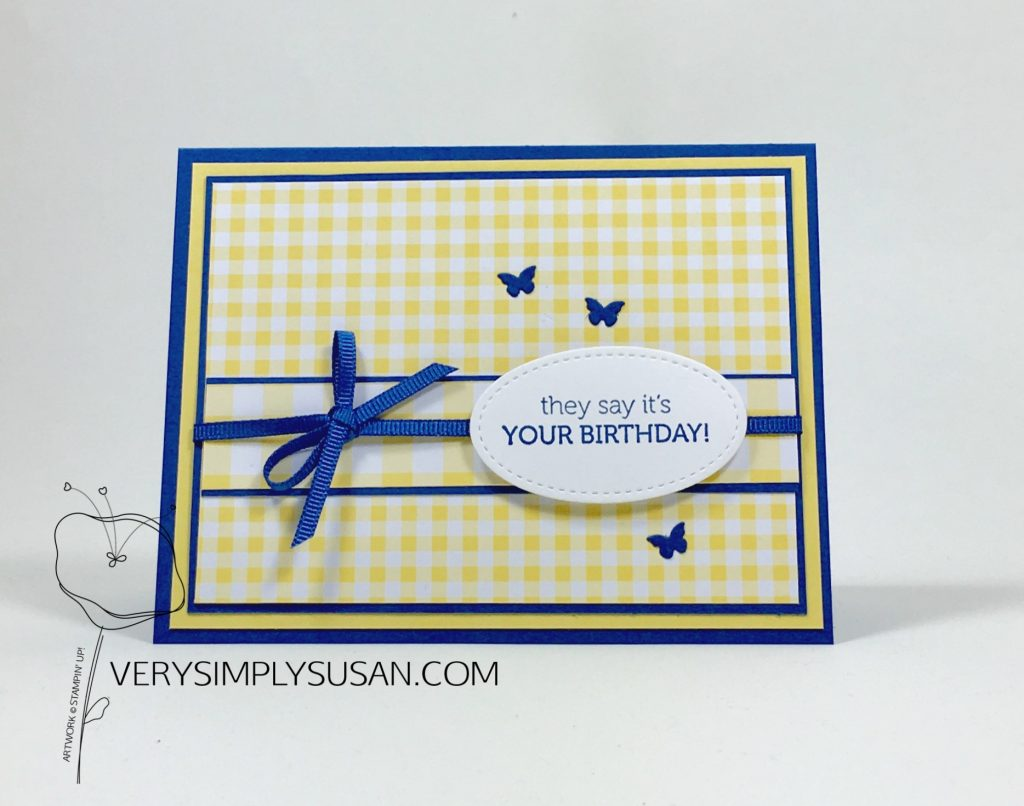 Sweetly Stamped Gingham Card