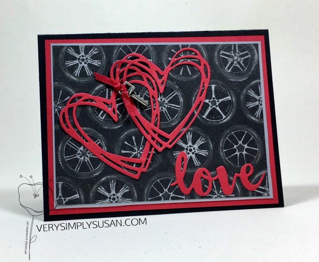 Geared Up Garage, Masculine Valentine's Day Card