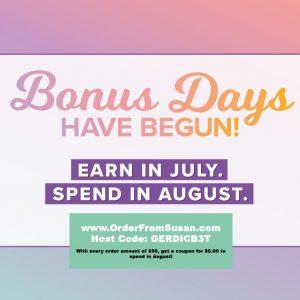 Bonus Days Promotion 2019